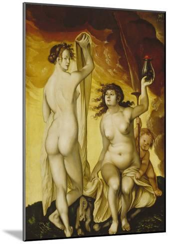 Two Witches, 1523-Hans Baldung Grien-Mounted Giclee Print