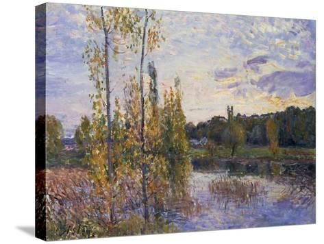 The Lake at Chevreuil, 1888-Alfred Sisley-Stretched Canvas Print