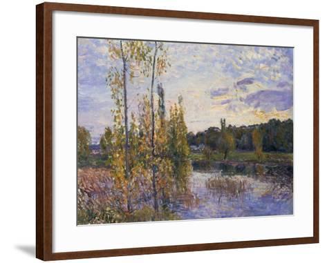 The Lake at Chevreuil, 1888-Alfred Sisley-Framed Art Print