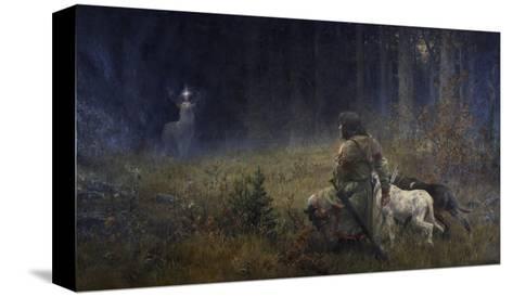 Vision of St. Hubert, 1892-Wilhelm Carl R?uber-Stretched Canvas Print