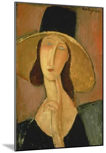 Portrait of Jeanne Hebuterne in a Large Hat-Amedeo Modigliani-Mounted Giclee Print