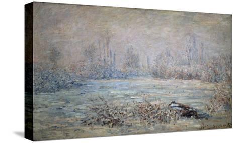 Rauhreiflandschaft Bei Vétheuil, 1880-Claude Monet-Stretched Canvas Print