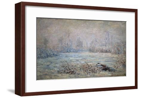 Rauhreiflandschaft Bei Vétheuil, 1880-Claude Monet-Framed Art Print