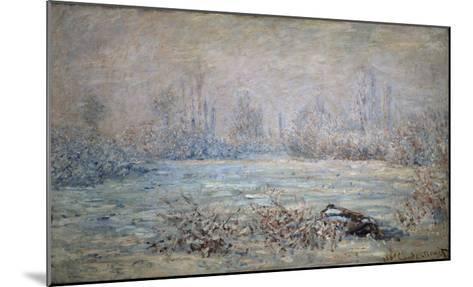 Rauhreiflandschaft Bei Vétheuil, 1880-Claude Monet-Mounted Giclee Print