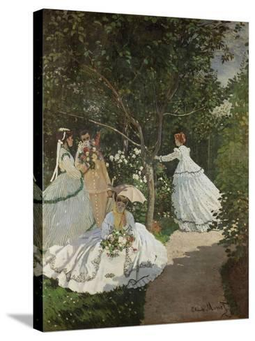 Women in the Garden, Ville D'Avray, 1867-Claude Monet-Stretched Canvas Print