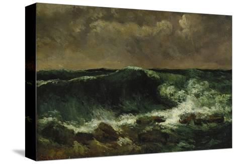 The Wave, about 1870-Gustave Courbet-Stretched Canvas Print