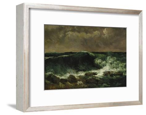 The Wave, about 1870-Gustave Courbet-Framed Art Print