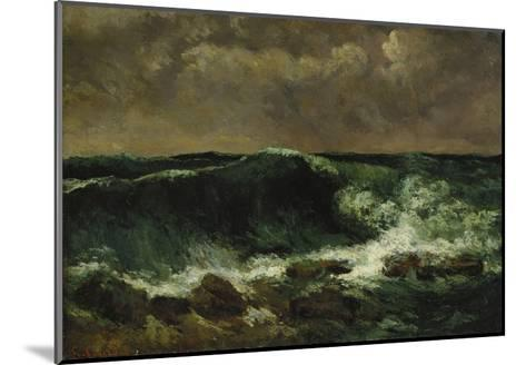 The Wave, about 1870-Gustave Courbet-Mounted Giclee Print