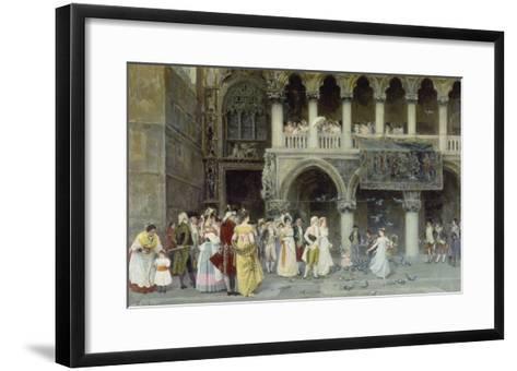 A Venetian Wedding, 1900-Gabriel Puig Roda-Framed Art Print