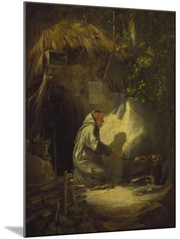 Hermit, Roasting a Chicken, 1841-Carl Spitzweg-Mounted Giclee Print