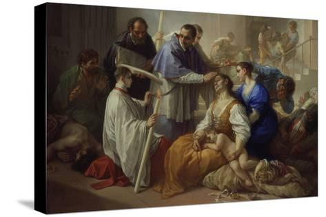 St. Charles Borromeo with Plague Victims, 1713-Benedetto Luti-Stretched Canvas Print
