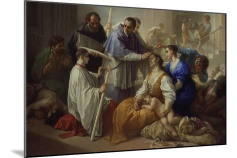 St. Charles Borromeo with Plague Victims, 1713-Benedetto Luti-Mounted Giclee Print