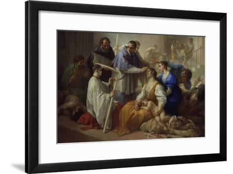St. Charles Borromeo with Plague Victims, 1713-Benedetto Luti-Framed Art Print