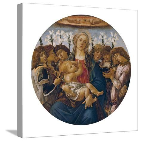 Madonna with Child and Singing Angels, about 1477-Sandro Botticelli-Stretched Canvas Print