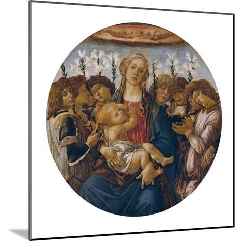 Madonna with Child and Singing Angels, about 1477-Sandro Botticelli-Mounted Giclee Print