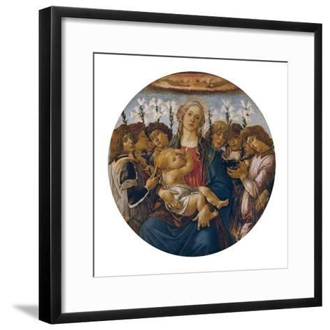 Madonna with Child and Singing Angels, about 1477-Sandro Botticelli-Framed Art Print