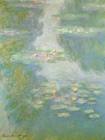Waterlilies, 1908-Claude Monet-Stretched Canvas Print