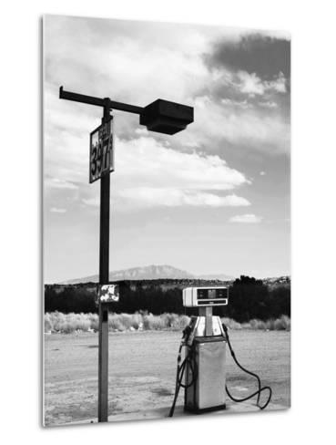 Gas Pump and New Mexico Landscape Sky, San Ysidro 2-Kevin Lange-Metal Print