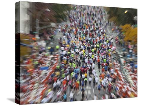 Runners Competing on First Avenue During 2009 New York City Marathon--Stretched Canvas Print