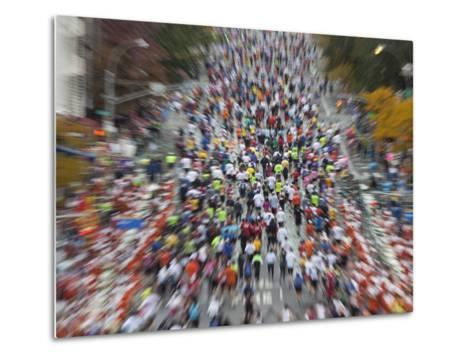 Runners Competing on First Avenue During 2009 New York City Marathon--Metal Print