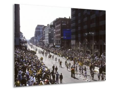 Finishers on Boyleston Street at the 1990 Boston Marathon--Metal Print