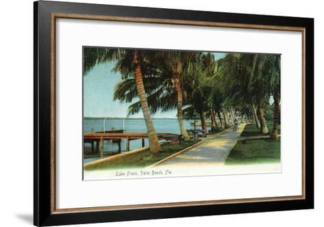 Palm Beach, Florida - View of the Lake Front-Lantern Press-Framed Art Print