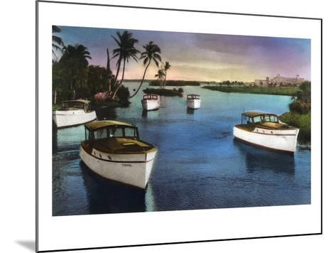 Boca Raton, Florida - Deep Sea Fishing Fleet Scene-Lantern Press-Mounted Art Print