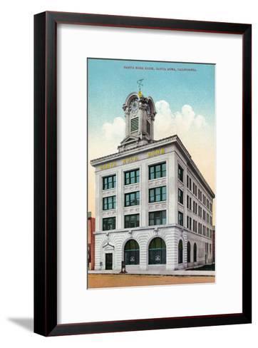 Santa Rosa, California - Exterior View of the Santa Rosa Bank-Lantern Press-Framed Art Print