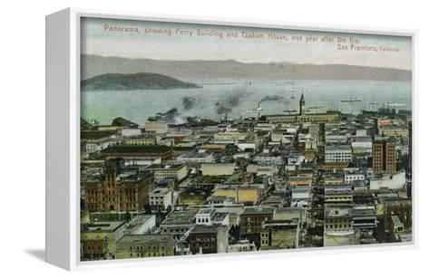San Francisco, California - Panoramic View a Year after 1906 Fire-Lantern Press-Framed Canvas Print