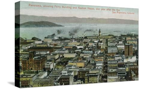 San Francisco, California - Panoramic View a Year after 1906 Fire-Lantern Press-Stretched Canvas Print