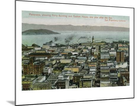 San Francisco, California - Panoramic View a Year after 1906 Fire-Lantern Press-Mounted Art Print