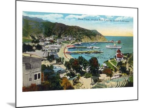 Santa Catalina Island, California - Panoramic View of Avalon and Bay-Lantern Press-Mounted Art Print