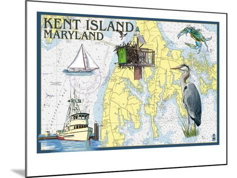 Kent Island, Maryland - Nautical Chart-Lantern Press-Mounted Art Print