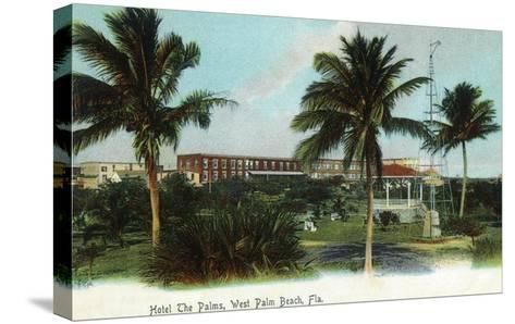 West Palm Beach, Florida - The Palms Hotel Exterior View-Lantern Press-Stretched Canvas Print