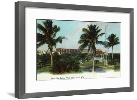 West Palm Beach, Florida - The Palms Hotel Exterior View-Lantern Press-Framed Art Print