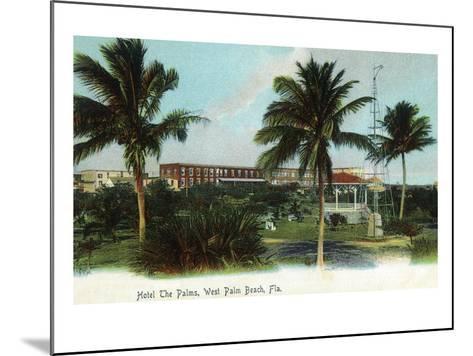 West Palm Beach, Florida - The Palms Hotel Exterior View-Lantern Press-Mounted Art Print