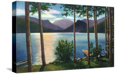 Grand Lake, Colorado - Sunrise Scene on the Lake-Lantern Press-Stretched Canvas Print