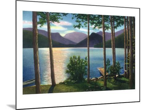 Grand Lake, Colorado - Sunrise Scene on the Lake-Lantern Press-Mounted Art Print