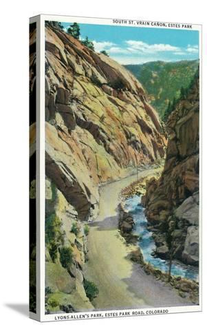 Estes Park, Colorado - Lyons-Allen's Park View of South St. Vrain Canyon-Lantern Press-Stretched Canvas Print