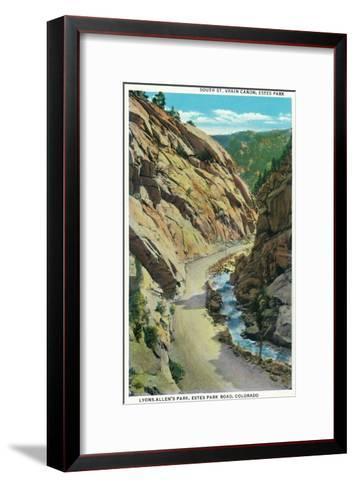 Estes Park, Colorado - Lyons-Allen's Park View of South St. Vrain Canyon-Lantern Press-Framed Art Print