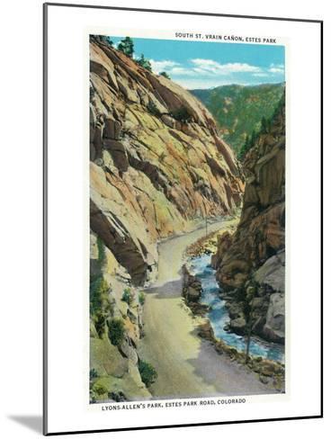 Estes Park, Colorado - Lyons-Allen's Park View of South St. Vrain Canyon-Lantern Press-Mounted Art Print