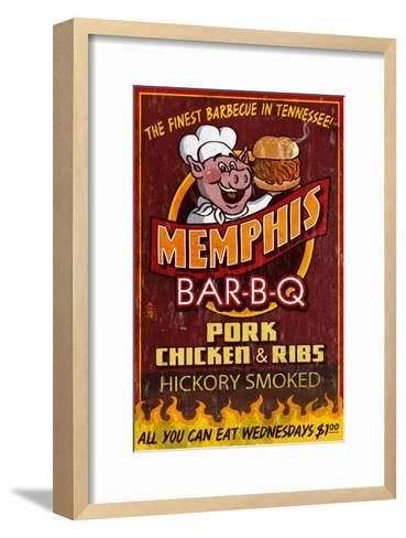 Memphis, Tennessee - Barbecue-Lantern Press-Framed Art Print
