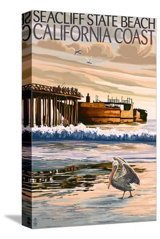 Seacliff State Beach, California Coast-Lantern Press-Stretched Canvas Print