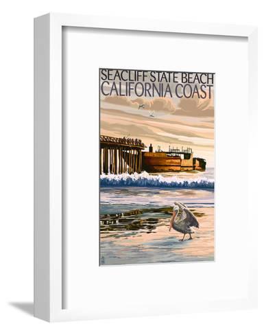 Seacliff State Beach, California Coast-Lantern Press-Framed Art Print