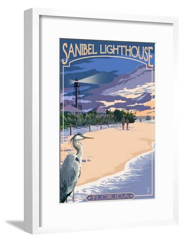 Sanibel Lighthouse - Sanibel, Florida-Lantern Press-Framed Art Print