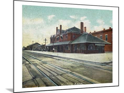 Wichita, Kansas - Exterior View of Rock Island Train Depot-Lantern Press-Mounted Art Print