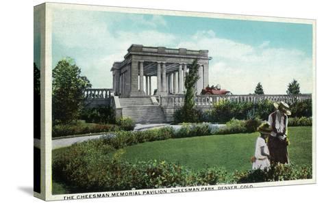 Denver, Colorado - Cheesman Memorial Pavilion View in Park-Lantern Press-Stretched Canvas Print