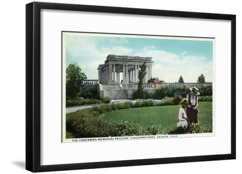 Denver, Colorado - Cheesman Memorial Pavilion View in Park-Lantern Press-Framed Art Print