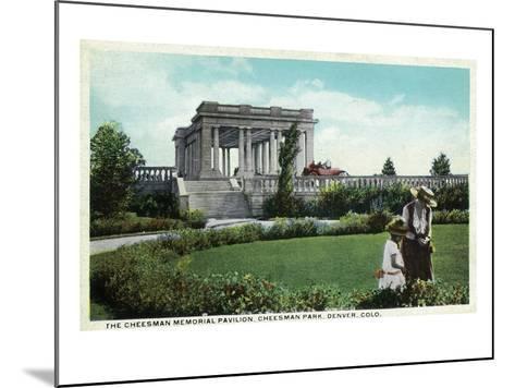 Denver, Colorado - Cheesman Memorial Pavilion View in Park-Lantern Press-Mounted Art Print