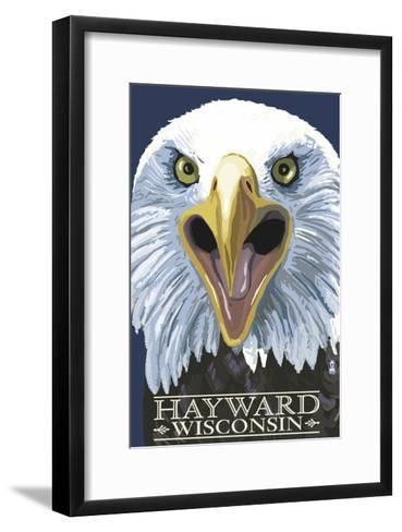 Hayward, Wisconsin - Eagle Up Close-Lantern Press-Framed Art Print